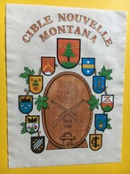 8671 - Cible Nouvelle Montana 1938-1988 Suisse - Etiquettes