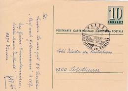 Postkarte. Von  Weesen Nach Solothurn  Schöner Werbestempel  Sonnenstube Am Walensee - Entiers Postaux