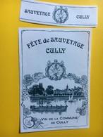 8673 - Fête De Sauvetage Cully Vin De La Commune Suisse - Etiquettes