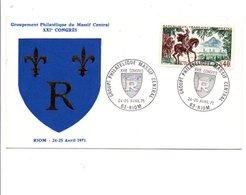 OBLITERATION CONGRES DU GPMC à RIOM PUY DE DOME 1971 - Postmark Collection (Covers)