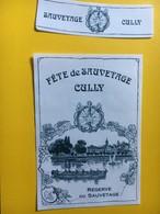 8674 - Fête De Sauvetage Cully Réserve Du Sauvetage  Suisse 2 étiquettes - Etiquettes