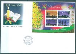 PAPUA NEW GUINEA - FDC  -  3.12.2008 - CHRISTMAS  - Yv BLOC 54 -  Lot 17669 - Papua-Neuguinea