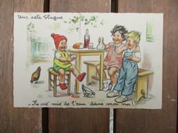 CPA ILLUSTRATEUR GERMAINE BOURET ENFANTS UNE SALE BLAGUE - Bouret, Germaine