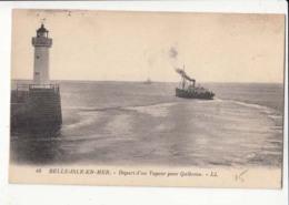 France 56 - Belle Isle En Mer - Départd'un Vapeur Pour Quiberon -  Achat Immédiater Avril - Belle Ile En Mer
