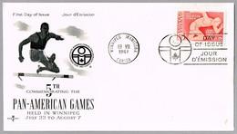 5º JUEGOS PANAMERICANOS - 5th PAN-AMERICAN GAMES. SPD/FDC Winnipeg, Canada, 1967 - Sellos