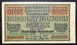 GERMANIA ALEMANIA GERMANY  100000 Mark 1923 Lotto 2122 - [ 3] 1918-1933 : Repubblica  Di Weimar