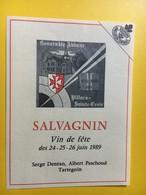 8679 - Salvagnin Pour  Honorable Abbaye Villars Ste-Croix Vin De Fête 1986 & 1989 Suisse 2 étiquettes - Etiquettes