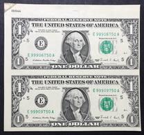 Usa 1 $ 1995 Lotto Di 2 Uncut Uniti  Fds   LOTTO 2125 - Small Size -Taglia Piccola (1928-...)
