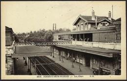 Nogent-sur-Marne  -  La Gare  4818  E.M.  Carte-Photo (2scans) - Gares - Sans Trains