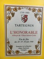 8681 - Salvagnin & Tartegnin Pour L' Honorable Abbaye Villars Ste-Croix Vin De Fête 1980 1730-1980 Suisse 2 étiquettes - Etiquettes