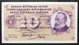 Svizzera 10 Francs Franken Franchi 1963 Q.fds About Unc LOTTO 2123 - Svizzera