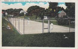 Bethlehem White Mountains New Hampshire - Tennis Court New Agassiz Hotel - Animated - 2 Scans - Tennis