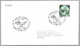 80 Años PRIMER VUELO POSTAL TORINO-ROMA - 80 Years First Postal Flight - Avion POMILIO PE. Roma 1997 - Correo Postal
