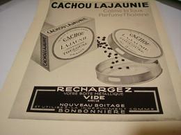 ANCIENNE PUBLICITE CACHOU LAJAUNIE TOULOUSE 1940 - Affiches