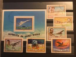 GUINE BISSAU - HISTOIRE AVIATION ET ESPACE - 6 Timbres + 1 BLOC - Space