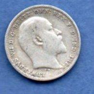 Grande Bretagne -  3 Pence 1902  --  état TB - 1902-1971 : Monnaies Post-Victoriennes