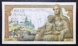 Francia 1000 Francs Goddess Demeter 11 02 1943 Lotto 2126 - 1871-1952 Anciens Francs Circulés Au XXème