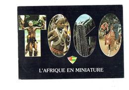 Cpm TOGO L'Afrique En Miniature Danse Des Vierges Seins Nus Masque De Cauris Chef Alafia Arc Cornes Lettre Alphabet - Togo