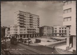 Postal Portugal - Porto - Praça D. João I (Porto Editora - Foto Beleza) Elétrico - Tram - Tramway - Porto