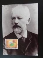 Carte Maximum Card Compositeur Music Composer Tschaikowsky Liechtenstein 2006 Ref 259 - Música