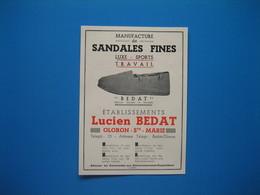 (1936) Sandales LUCIEN BEDAT à Oloron-Ste-Marie --- Sandales N. CHAUDIÈRE à La Bruffière (Vendée) - Non Classificati
