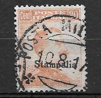 "EGEO - STAMPALIA 1917  Francobolli D'Italia N. 107a (senza Filigrana) Soprastampato ""Stampalia""  20 C. Arancio - Egeo (Stampalia)"