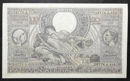 Belgio Belgium  100 Francs - 20 Belgas 01 06 1943 Q.fds/fds Lotto 2127 - [ 2] 1831-...: Belg. Königreich