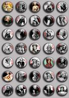 Ginger Rogers Movie Film Fan ART BADGE BUTTON PIN SET 2  (1inch/25mm Diameter) 35 DIFF - Kino