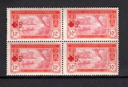 COTE D'IVOIRE N° 58 EN BLOC DE QUATRE  NEUF AVEC CHARNIERE COTE  6.80€ LAGUNE  CROIX ROUGE VOIR DESCRIPTION - Elfenbeinküste (1892-1944)