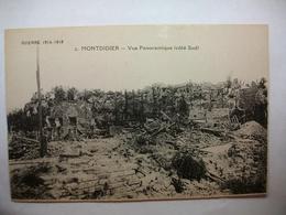 Carte Postale Montdidier (80) Vue Panoramique Coté Sud -Guerre 1914-1918 (Petit Format Non Circulée ) - Montdidier