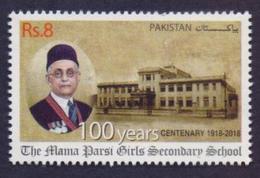 PAKISTAN 2018 - 100 Years Of Mama Parsi Girls Secondary School Karachi, Education, 1v MNH - Pakistan