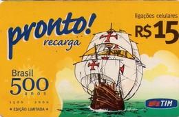 TARJETA TELEFONICA DE BRASIL (PREPAGO - TIM). BARCOS. (041) - Brazilië