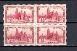 COTE D'IVOIRE N° 118  BLOC DE QUATRE   NEUF AVEC CHARNIERE COTE  1.60€  VOIR DESCRIPTION    MOSQUEE - Elfenbeinküste (1892-1944)