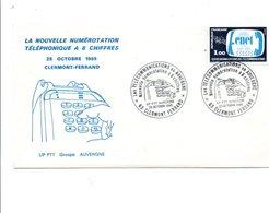 OBLITERATION LA NOUVELLE NUMEROTATION TELEPHONIQUE A 8 CHIFFRES CLERMONT FERRAND 1985 - Postmark Collection (Covers)