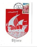 OBLITERATION 40 ANS AMICALE PHILATELIQUE DE THIERS PUY DE DOME 1985 - Postmark Collection (Covers)