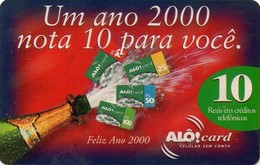 TARJETA TELEFONICA DE BRASIL (PREPAGO - ALO). FELIZ AÑO 2000. (012) - Brazilië