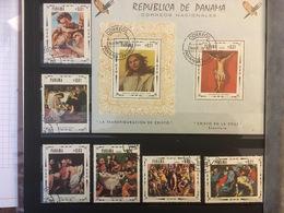 PANAMA - 1968 - PAINTINGS - RELIGION - 6 Timbres + 1 BLOC - Panama