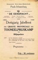 ZZ970 - Thème BRASSERIE - Programme Toneelmaatschappij Molenbeek St Jean 1925 - PUB Brouwerij De Halve Maan - Bières
