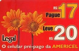 TARJETA TELEFONICA DE BRASIL (PREPAGO - AMERICEL) LEGAL. (013) - Brazilië