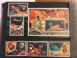 DAHOMEY - UPU 1974 - ESPACE - SPACE - 1 BLOC + 5 Timbres - Space