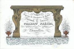 ZZ973 - Carte Porcelaine (1840/1850) Décorée Cheminée De Marbre Verbist Frères à BRUXELLES Et ST JOSSE TEN NOODE - Cartes De Visite