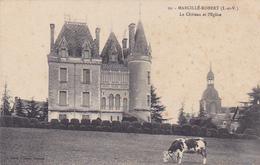 Cpa-35-marcillé Robert-pas Sur Delc.-chateau , Eglise-vache-edi Sorel N°10 - France