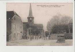 CPA - CHAMPAGNE SUR VINGEANNE - Place De L'Eglise Et Monument - Sonstige Gemeinden
