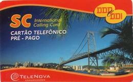 TARJETA TELEFONICA DE BRASIL (PREPAGO - SC, TELENOVA). PUENTES. (020) - Brazilië
