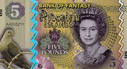 PITCAIRN Islands 5 Dollars 2018  Polymer UNC Pigeon Ramier - Fictifs & Spécimens