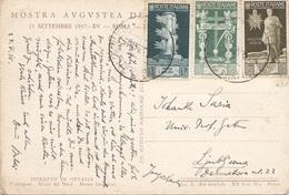 ITALIEN 1938 - 3 Sondermarken Auf Ak RITRATTO DI OTTAVIA - Ganzsachen