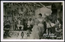 POSTCARD CUBA HAVANA CUBAN TYPICAL RUMBA . REAL PHOTO SIGNED ROMAY . CA YEAR 1950 - Postcards
