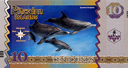 PITCAIRN Islands 10 Dollars 2018  Polymer UNC Dauphin Tacheté - Fictifs & Spécimens