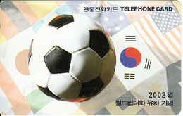 SOUTH KOREA - Commemoration Of The World Cup Lure, World Cup Korea 2002, Korea Telecom Telecard(W4800), Used - Korea, South