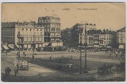 LIEGE - Place Saint-Lambert Tram Tramway  Straßenbahn   1915y FELDPOST  E626 - Liège